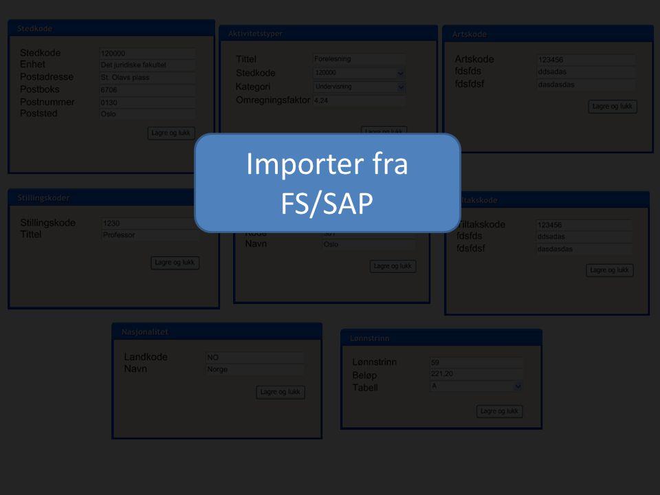 Importer fra FS/SAP