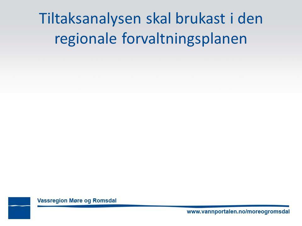 Tiltaksanalysen skal brukast i den regionale forvaltningsplanen