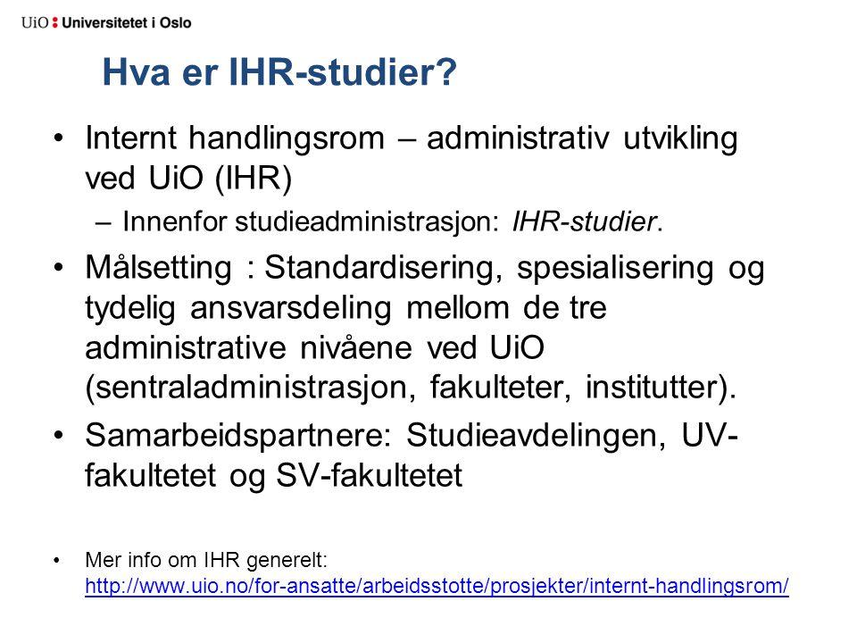 Hva er IHR-studier.