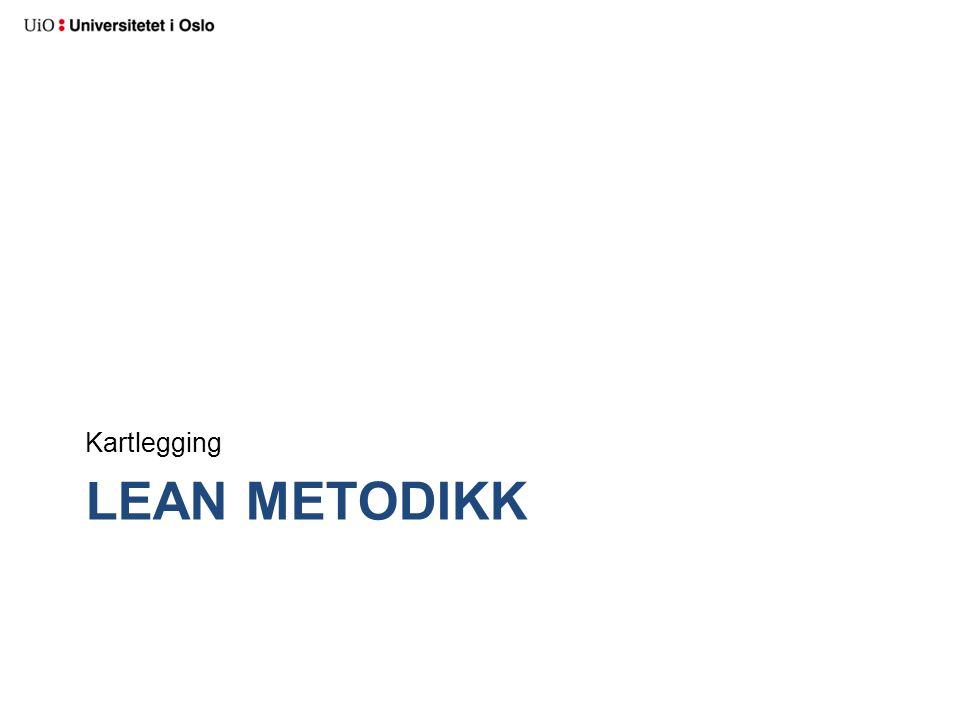 LEAN METODIKK Kartlegging