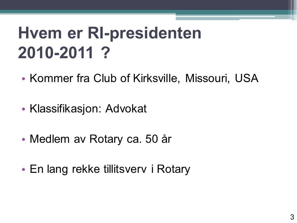 Hvem er RI-presidenten 2010-2011 .