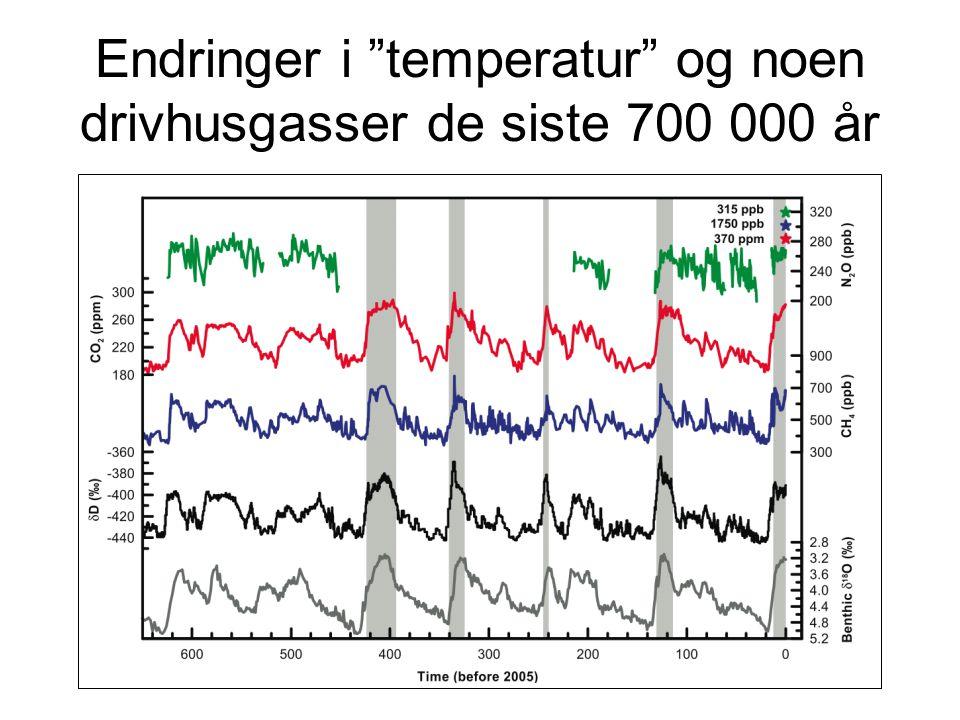Klimaet for 21 000 år siden
