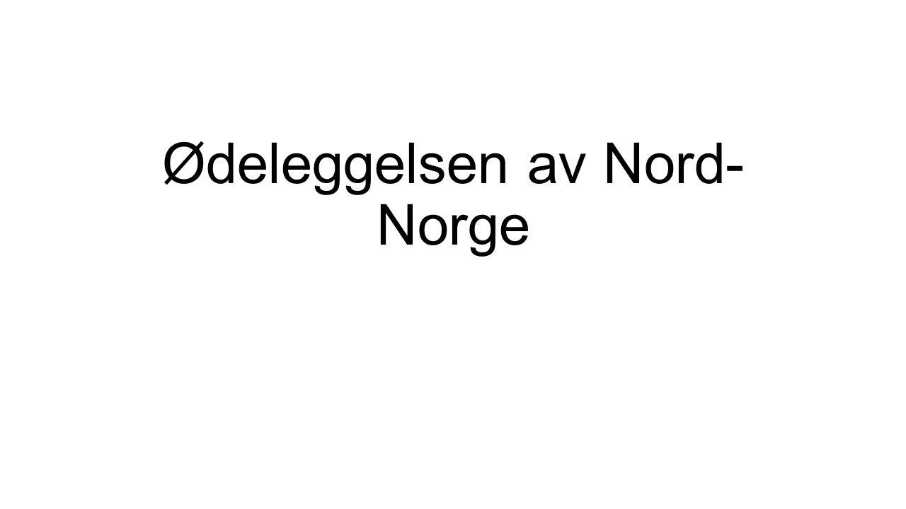 Ødeleggelsen av Nord- Norge