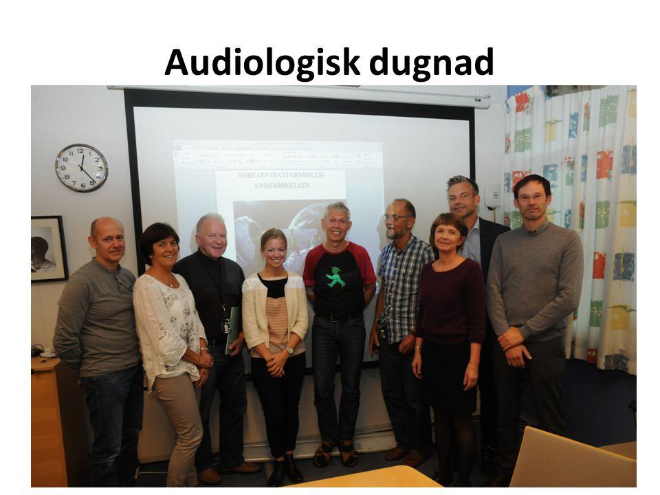 Gjennomføring Epostbasert utsendelse med www.enalyzer.nowww.enalyzer.no Målgruppe: Én audiograf ved 104 klinikker: – 33 av totalt 36 hørselssentraler – 56 av totalt ca.