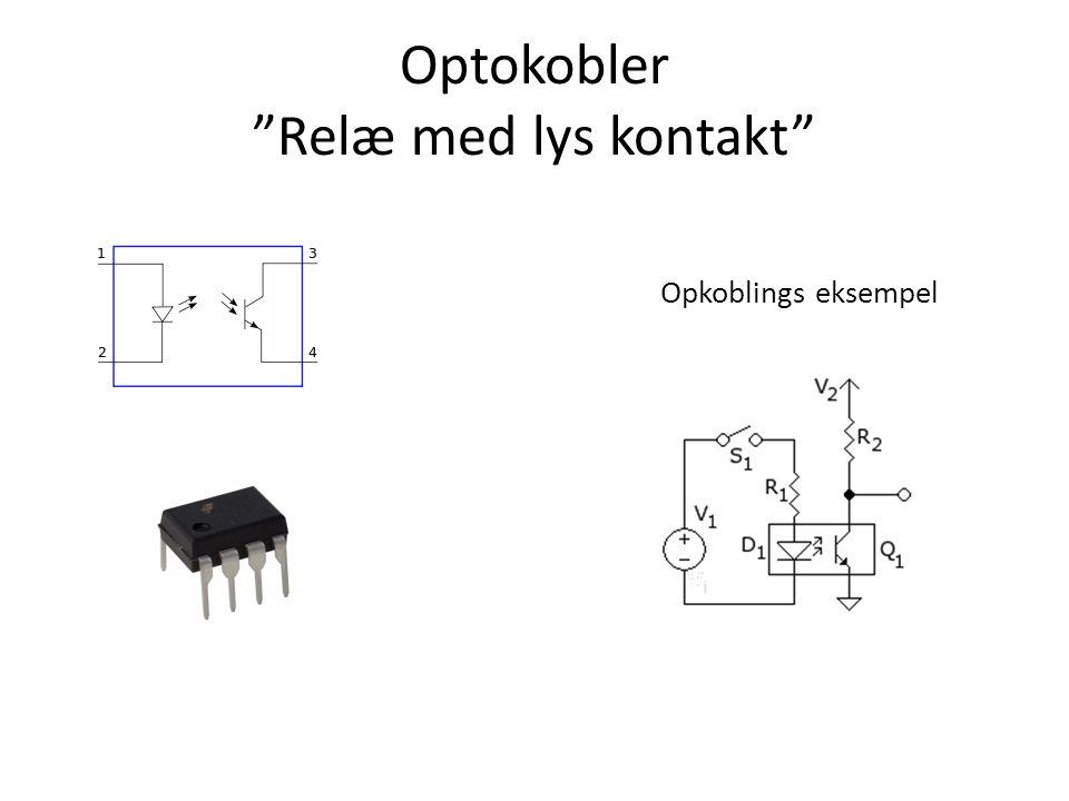 Optokobler Relæ med lys kontakt Opkoblings eksempel