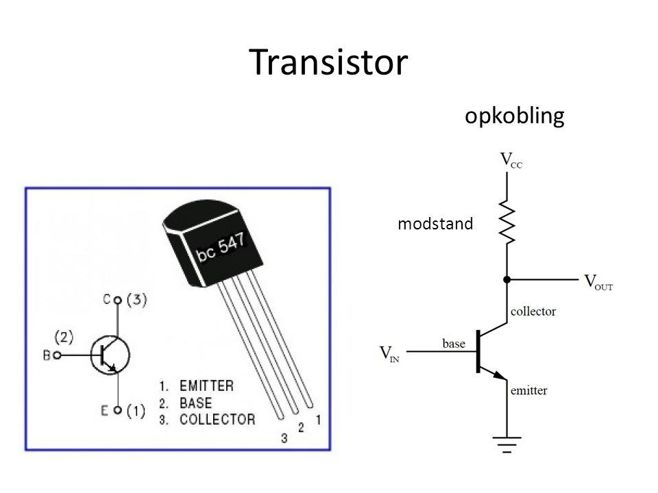 Transistor opkobling modstand