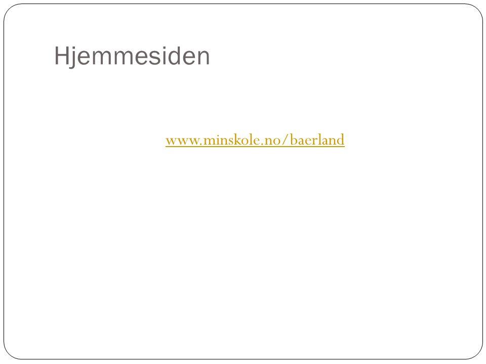 Hjemmesiden www.minskole.no/baerland
