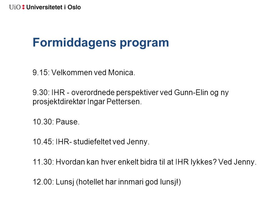 Studentmobilitet Innpasning og godkjenning Alt som ikke er fra UiO Ivareta vitnemålsperspektivet Studentfokus SFM utenfor mandat da det ivaretas av opptaksgruppen
