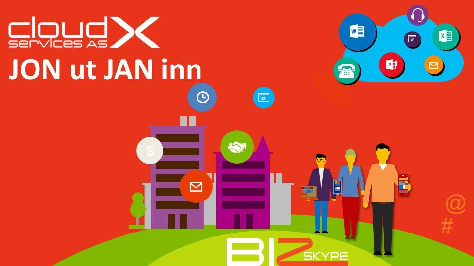 # $ JON ut JAN inn @