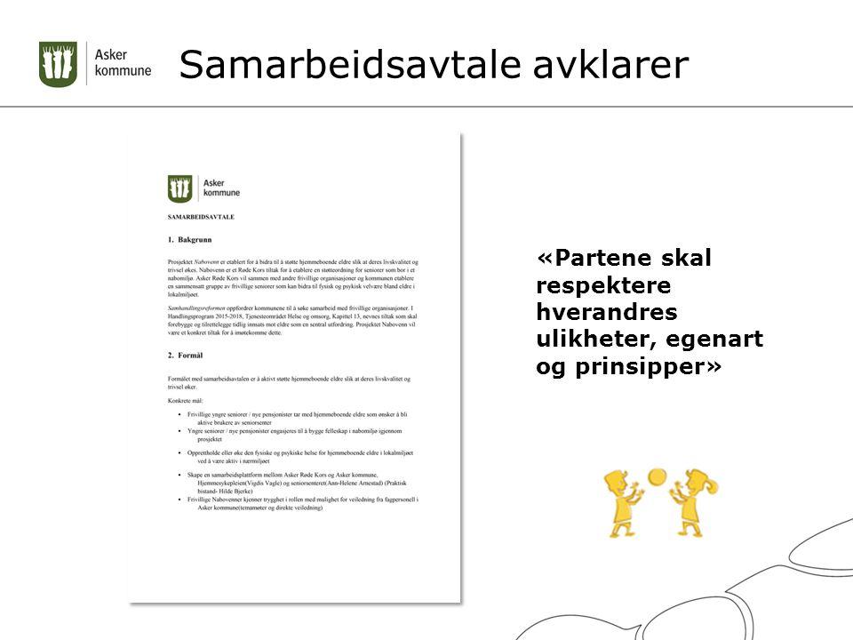 Samarbeidsavtale avklarer «Partene skal respektere hverandres ulikheter, egenart og prinsipper»