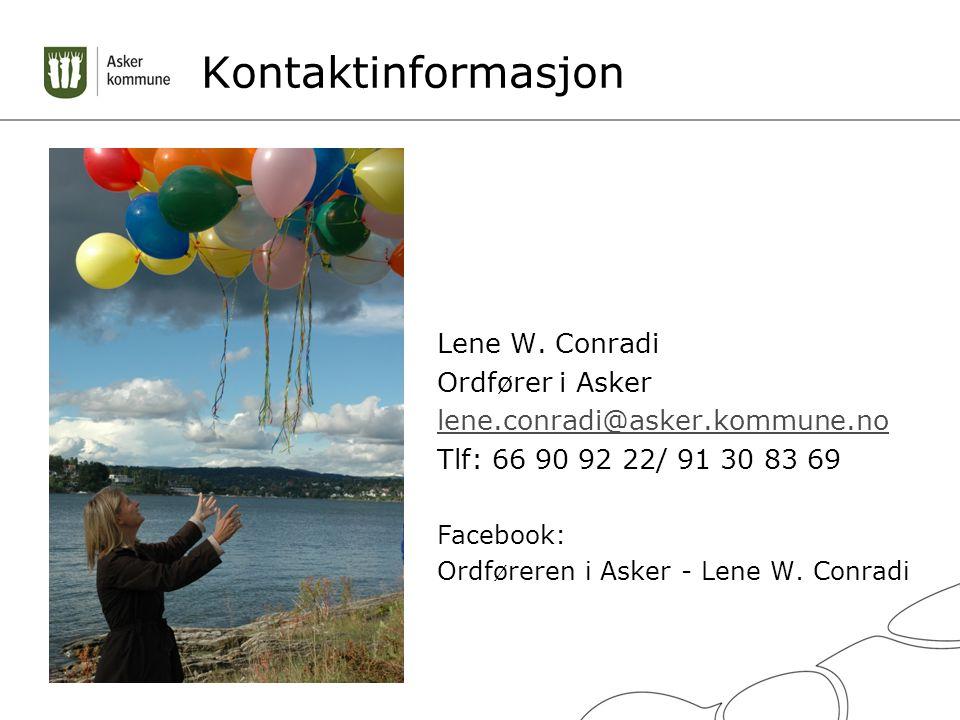 Kontaktinformasjon Lene W.