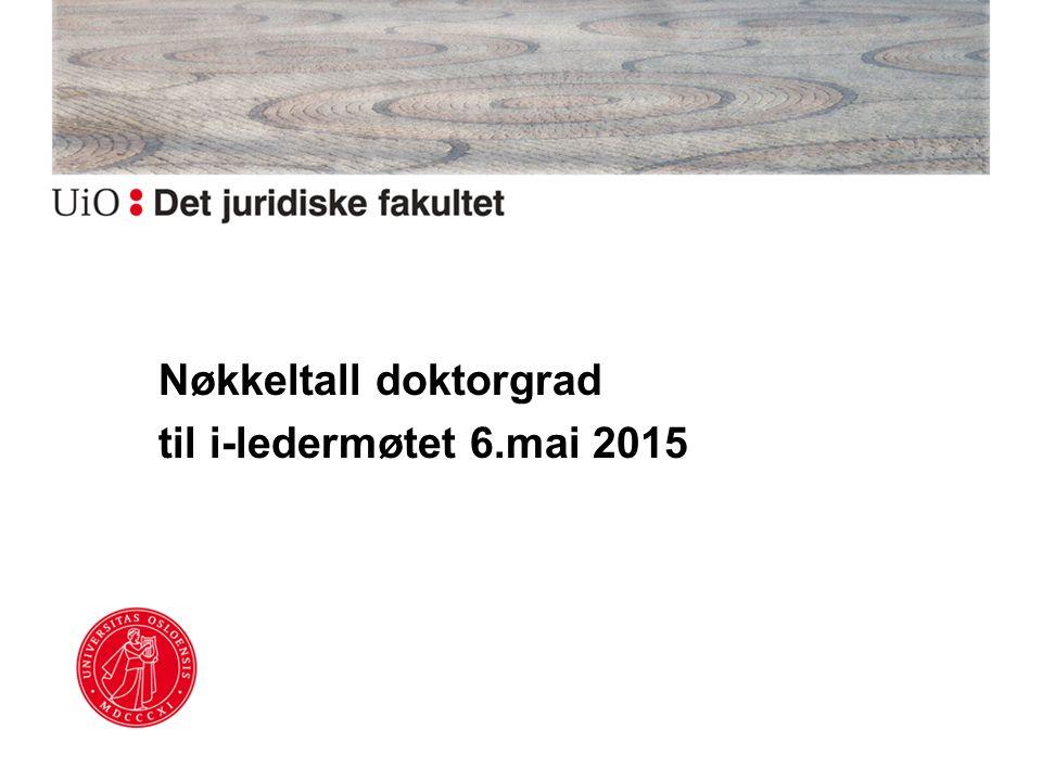 Nøkkeltall doktorgrad til i-ledermøtet 6.mai 2015