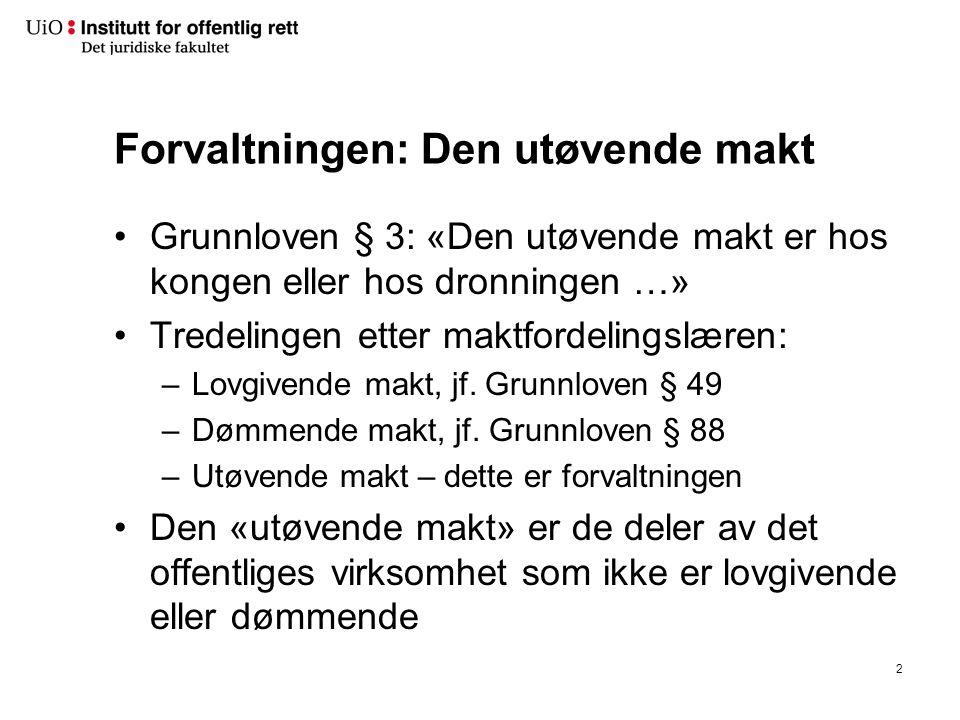 Menneskerettighetene De menneskerettighetene som er tatt inn i Grunnloven, har fått Grunnlovs rang Vil danne skranker for hva forvaltningen kan foreta seg Nye: f.eks.