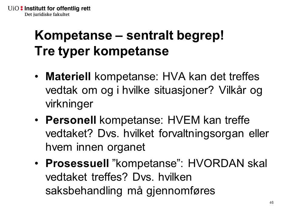 Kompetanse – sentralt begrep.