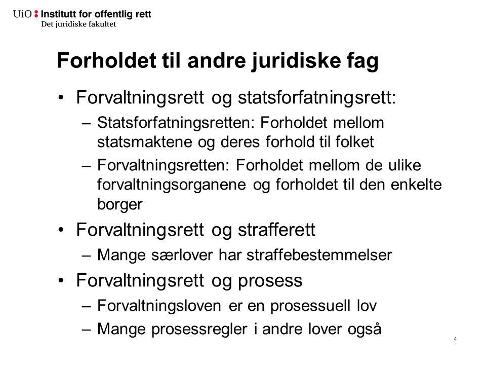 Prinsipper i forvaltningsretten forts.