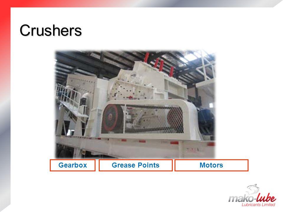 Crushers MotorsGearboxGrease Points