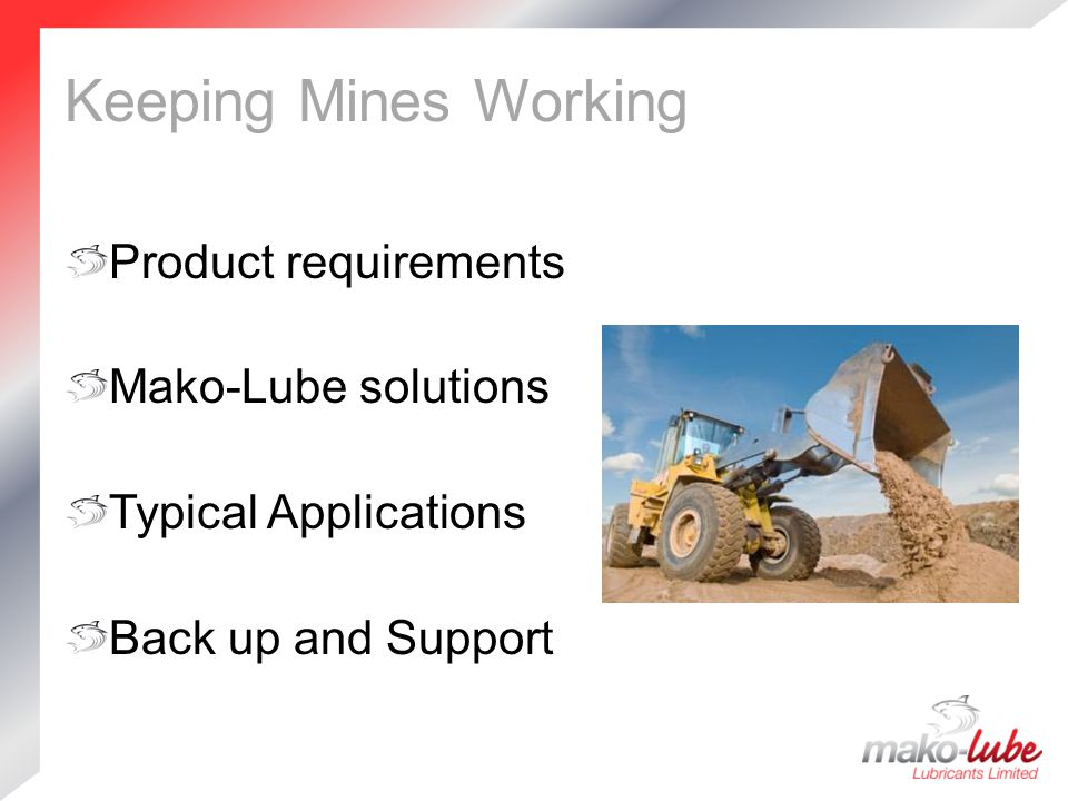 Other Applications Drag Lines & Cables  Indu-Tek Wire Rope Dressing Hammers and Pile Drivers  Indu-Tek Hammer Grease Tool Jointing  Indu-Tek Anti-Seize 1100 Chains  Indu-Tek Permian WR Chain Oil  Indu-Tek Dry Moly Coating Spray General Lubrication  Indu-Tek Multi-Lube TF