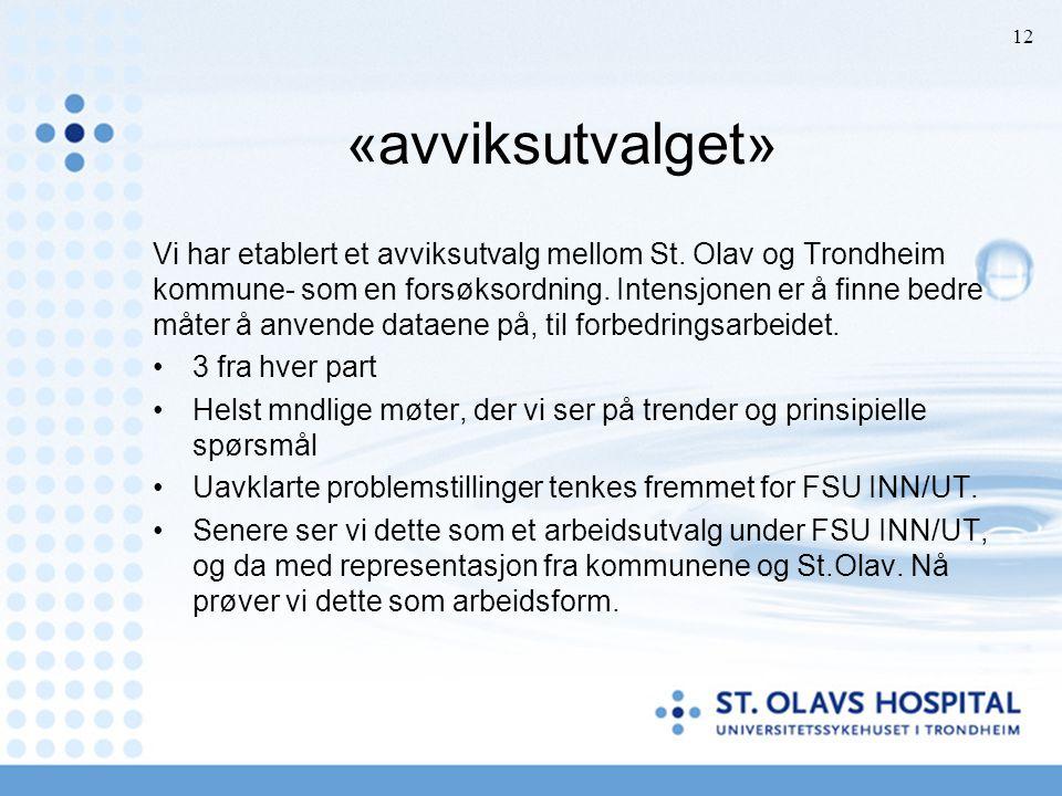 «avviksutvalget» Vi har etablert et avviksutvalg mellom St. Olav og Trondheim kommune- som en forsøksordning. Intensjonen er å finne bedre måter å anv