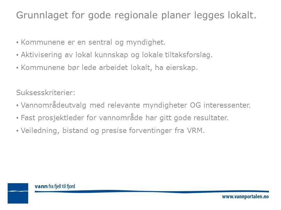 Grunnlaget for gode regionale planer legges lokalt.