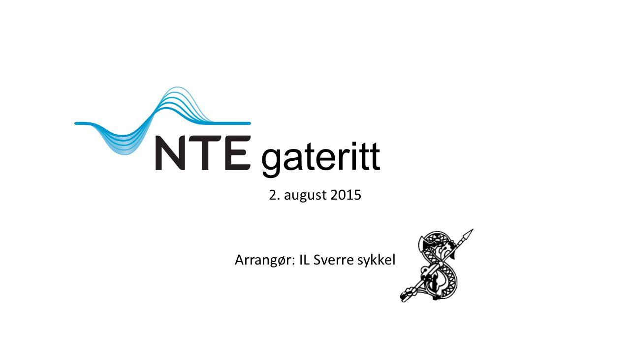gateritt 2. august 2015 Arrangør: IL Sverre sykkel