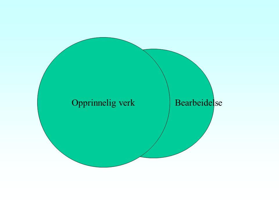 """Bearbeidelser Åvl. § 1 nr 13: Oversettelser og bearbeidelser er åndsverk Åvl § 4 annet ledd: """"Avhengighetsverk"""" To opphavsmenn: originalverket og bear"""