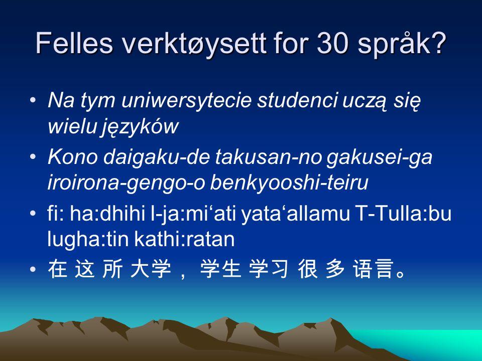 Noen språk de fleste av oss kan På dette universitetet lærer studentene mange språk.