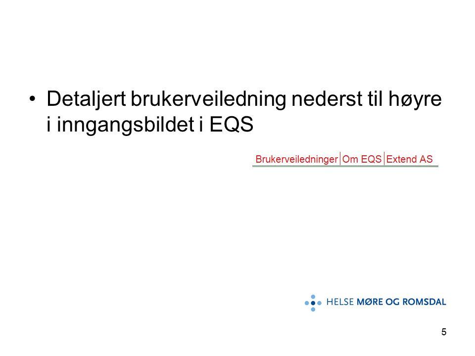 16 Når du åpner et dokument i EQS vil dokumentet presenteres med to eller flere faner øverst.