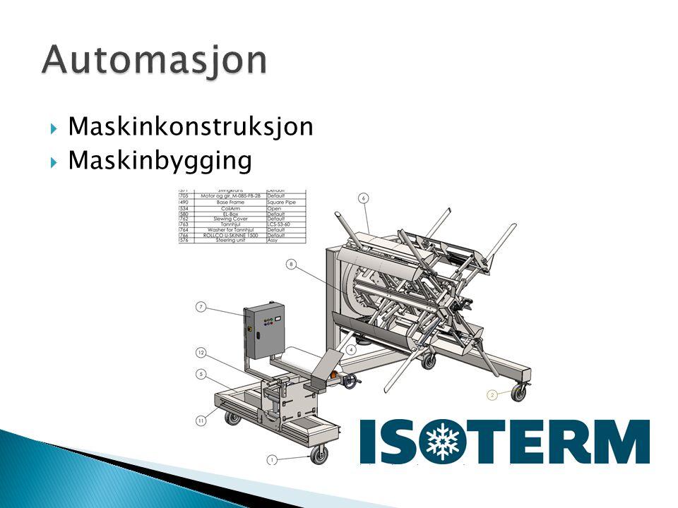 Maskinkonstruksjon  Maskinbygging