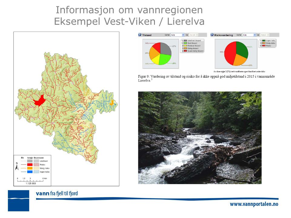 Informasjon om vannregionen Eksempel Vest-Viken / Lierelva