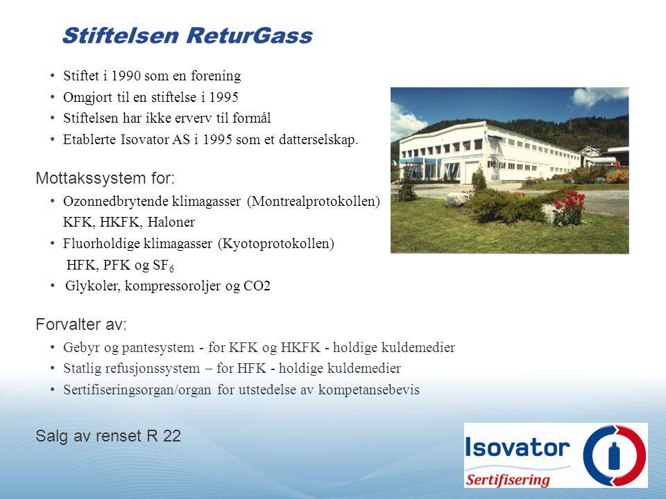 Stiftet i 1990 som en forening Omgjort til en stiftelse i 1995 Stiftelsen har ikke erverv til formål Etablerte Isovator AS i 1995 som et datterselskap.