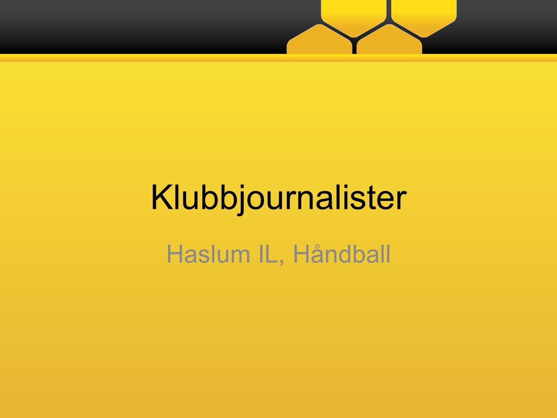 Klubbjournalister Haslum IL, Håndball