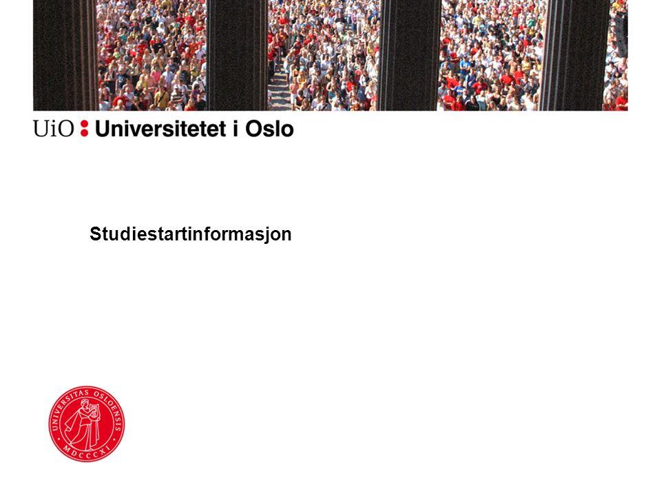 Studiestartinformasjon