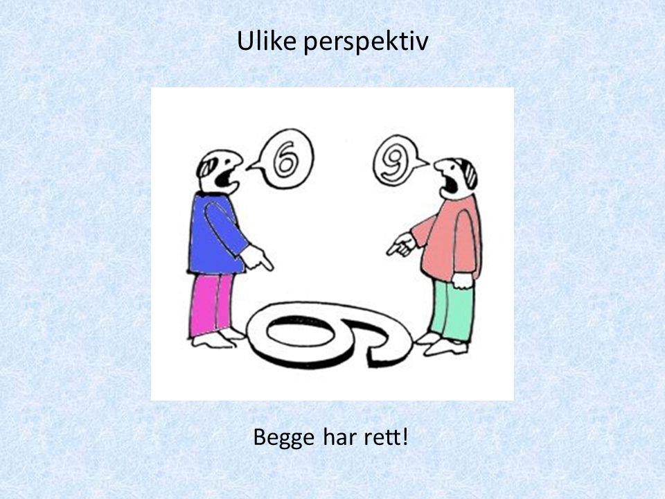 Begge har rett! Ulike perspektiv