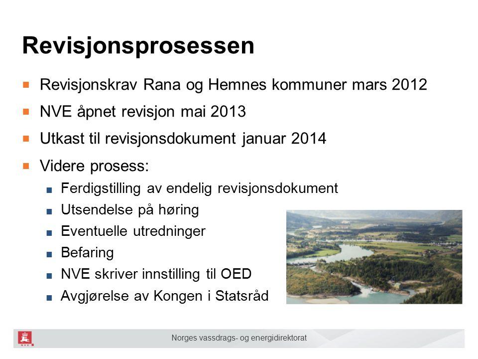 Norges vassdrags- og energidirektorat Mange revisjonskrav, bl.a.