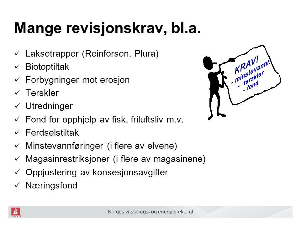 Norges vassdrags- og energidirektorat Aktuelle tiltak ■ Minstevannføring i Plura, Tverrelva, og Leirelva ■ Ev.