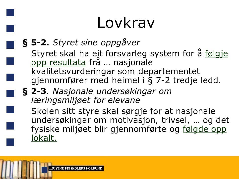 Lovkrav § 5-2.