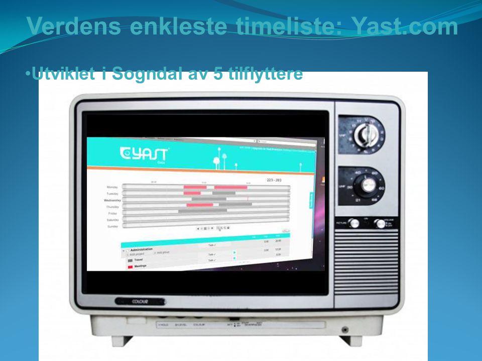 Verdens enkleste timeliste: Yast.com Utviklet i Sogndal av 5 tilflyttere