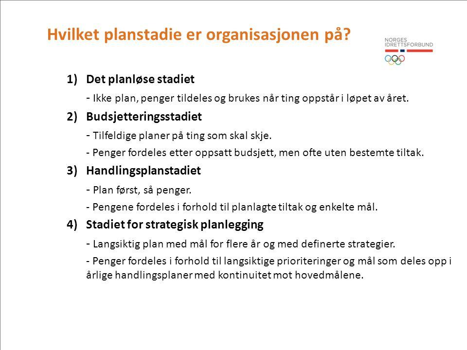 Har organiasjonen behov for en virksomhetsplan.