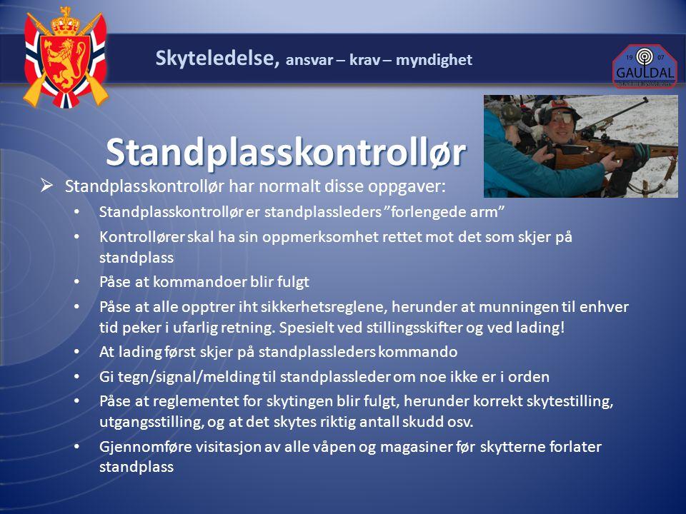"""Standplasskontrollør Standplasskontrollør  Standplasskontrollør har normalt disse oppgaver: Standplasskontrollør er standplassleders """"forlengede arm"""""""