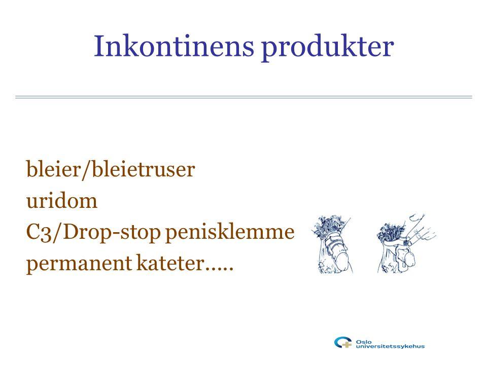 Inkontinens produkter bleier/bleietruser uridom C3/Drop-stop penisklemme permanent kateter.....