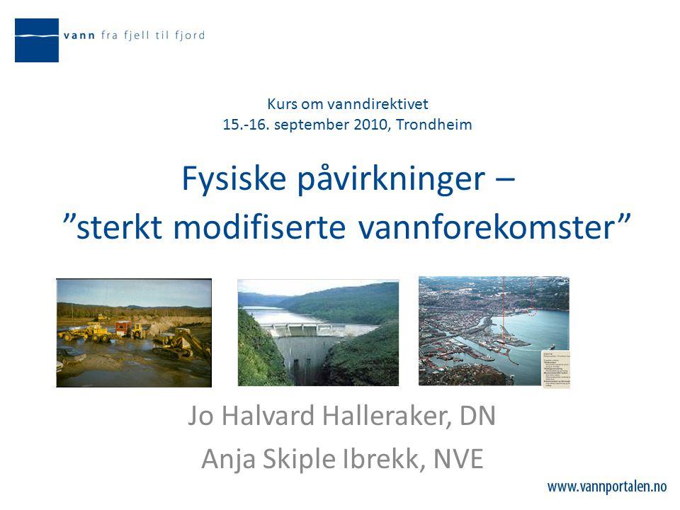 Kurs om vanndirektivet 15.-16.