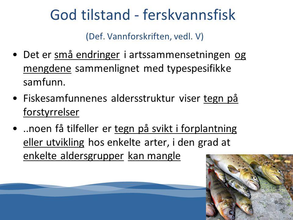 God tilstand - ferskvannsfisk (Def.Vannforskriften, vedl.