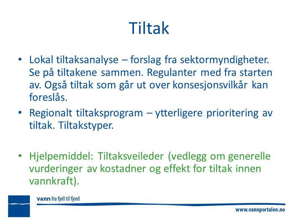 Tiltak Lokal tiltaksanalyse – forslag fra sektormyndigheter.