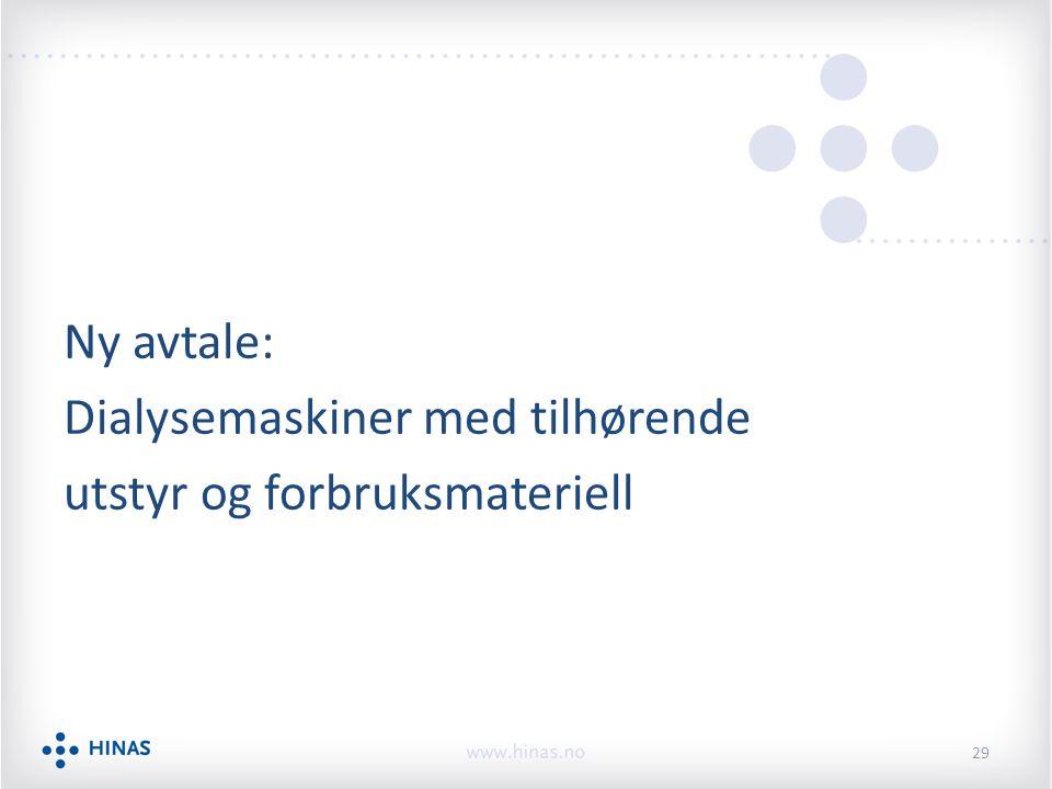 Ny avtale: Dialysemaskiner med tilhørende utstyr og forbruksmateriell 29