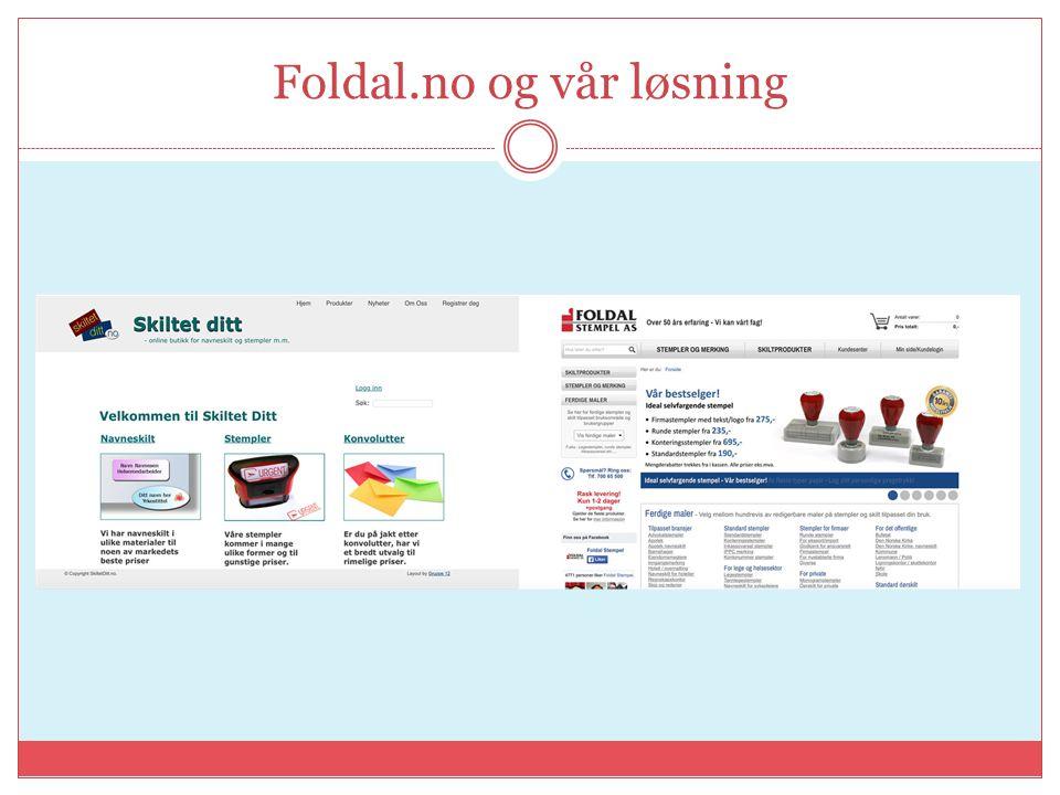 Foldal.no og vår løsning