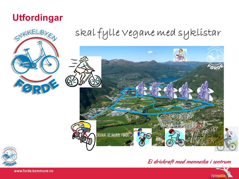 Utfordingar skal fylle Vegane med syklistar