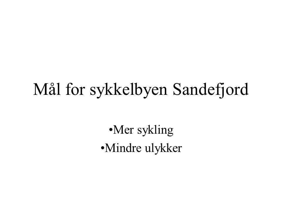 Mål for sykkelbyen Sandefjord Mer sykling Mindre ulykker