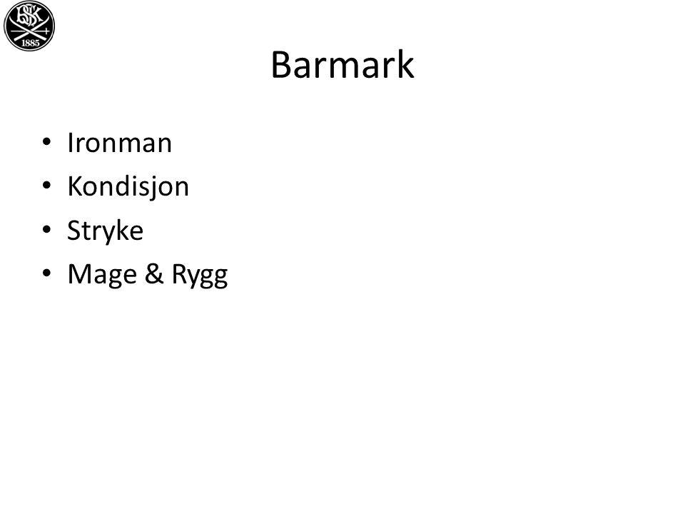 Barmark Ironman Kondisjon Stryke Mage & Rygg