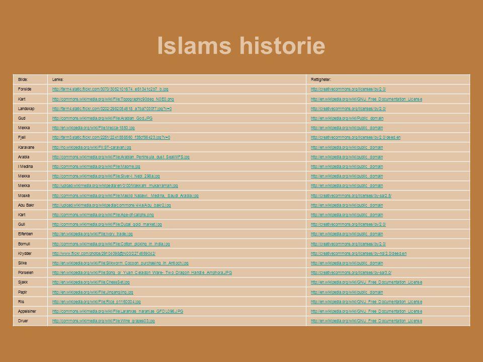 Islams historie Bilde:Lenke:Rettigheter: Forsidehttp://farm4.static.flickr.com/3070/3052101674_e61341c2b7_b.jpghttp://creativecommons.org/licenses/by/