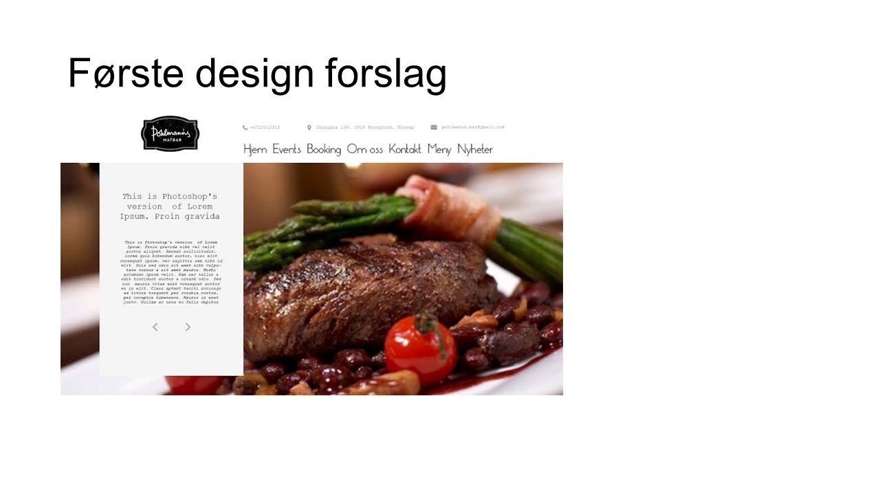 Løsninger Kvistpapiren ble brukt på headeren Bordreservasjon Dato, tid, ant.